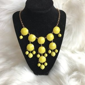 5/$25 J. Crew Yellow / Gold Statement Necklace
